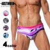 AUSTINBEM Sexy Men's Swim Briefs Printed Beach Swimsuit Gay Mens Swimwear Bikini Mens Thong Swimwear Spa Swimming Suit 21804