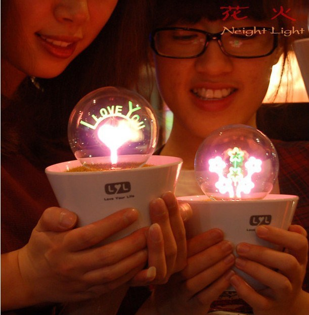 Free Shipping 4homelight Romantic Pretty Valentine Gifts For BoyfriendFireworks Desk Lamp Birthday