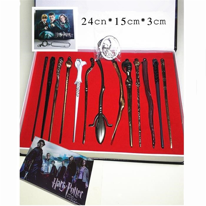 Halloween Character Dress Up Game Magic School Wand Magic Wand Voldemort Necklace Boxed Set Narcissa Dumbledore Collection image