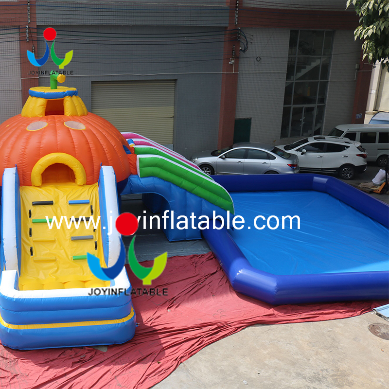inflatable slide with swimming pool1