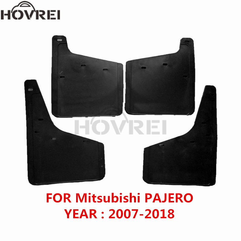 car Front Rear Mud Flaps For Mitsubishi Pajero Montero 2007 2018 mudguards Splash Guards Mudflaps Fender