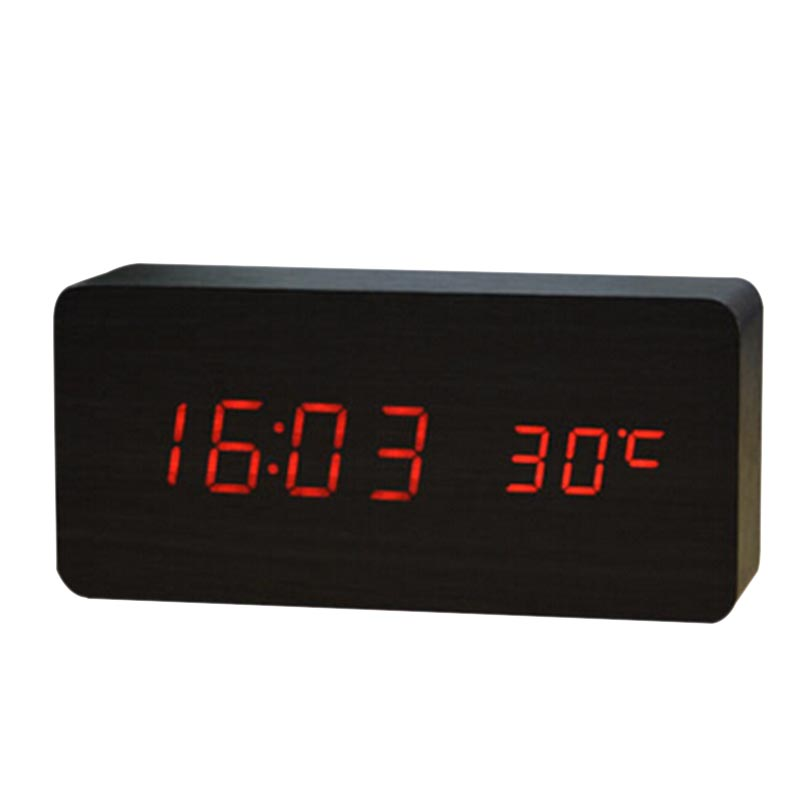 Vintage Upgrade Led Alarm Clock Home Temperature Sounds