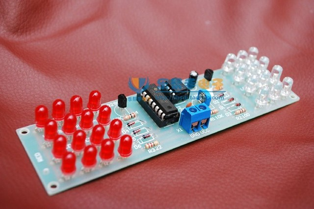 Red color LED Strobe Circuit parts production suite of electronic ...
