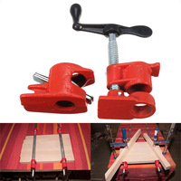 1/2inch Cast Iron Heavy Wood Gluing Pipe Clamp Clip Set Woodworking Carpenter Tool