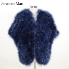 Jancoco Max, модный стиль, новинка, женское пончо из натурального страусиного пера или леди, меховая шаль из Турции, опт/розница, S1244
