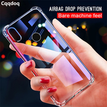 Cqqdoq Full Protection Phone Case For Redmi 6 6a Note 5 6pro Soft Crystal TPU Cover Xiaomi 6X mi8 lite Airbag Cases Fundas