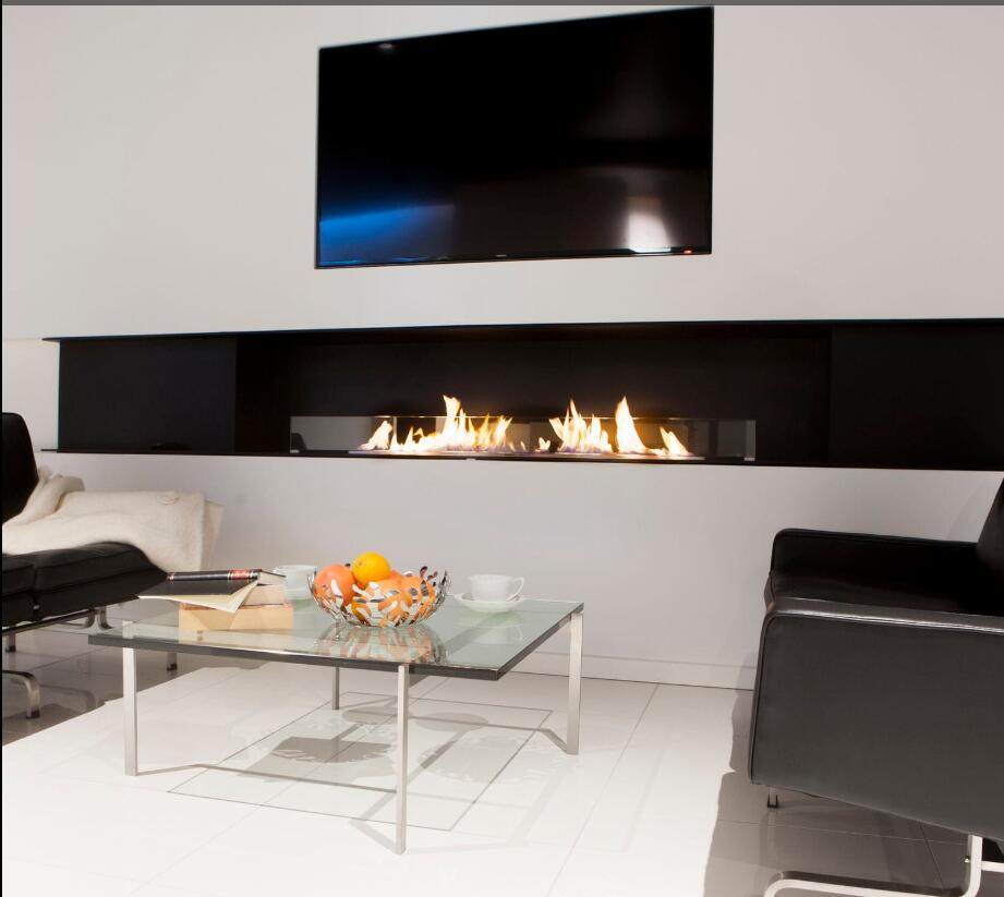 On Sale 48 Inch  Fireplace Burners With Remote Control Bioethanol Fire