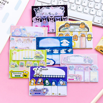 20pack /lot Cute Japanese Cartoon Frog Melody Twin Star Memo Pad N Times Sticky Notes School Stationery Wholesale star shaped sticky notes