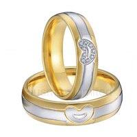 Анель титана ювелирные изделия выразительные действия мужчины и женщины бижутерия в форме сердца обручальные Обручальные кольца