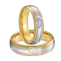 anel titanium jewelry expression of commitment men and women heart shape jewelry engagement wedding rings