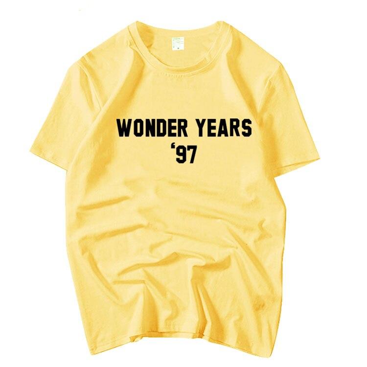 Kpop girls generation Seohyun same wonder years printing loose t shirt for summer unisex o neck short sleeve t-shirt 5 colors