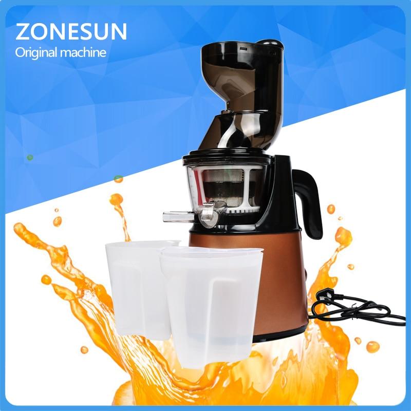 ZONESUN Electric Slow Juicer Household Fresh Fruit Juice Machine/Fruit Vegetable Juice Extractor new model portable fruit juicer vegetable fruit juicers machine lemon juice extractor lexen 1pcs