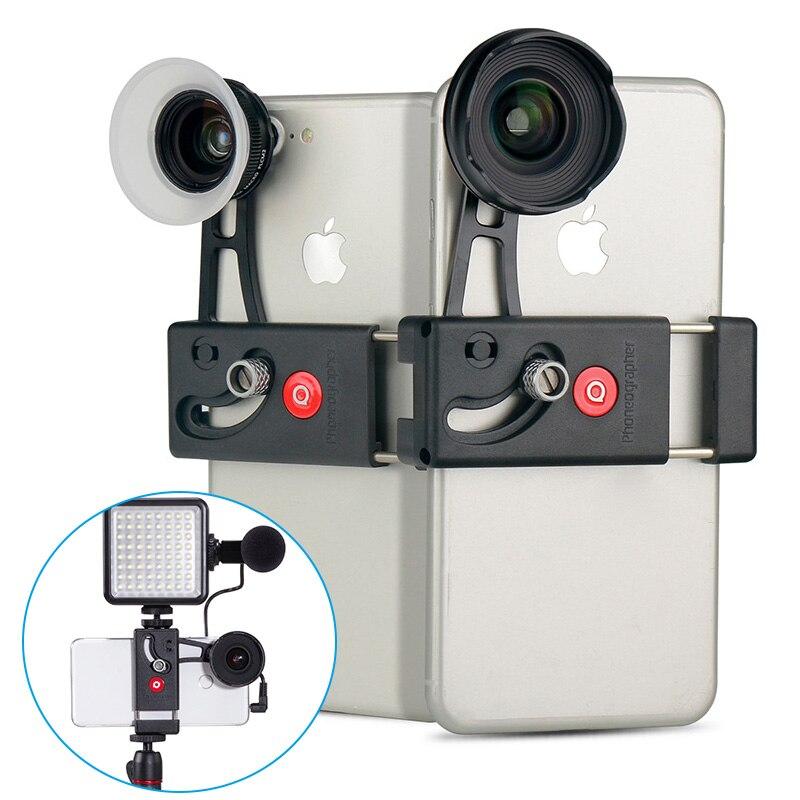 4 k HD Grand Angle Smartphone Camera Lens w 15X Mise Au Point Manuelle Macro Téléphone Lentilles pour iPhone XS XS Max 7 Plus Samsung S9 Mobile