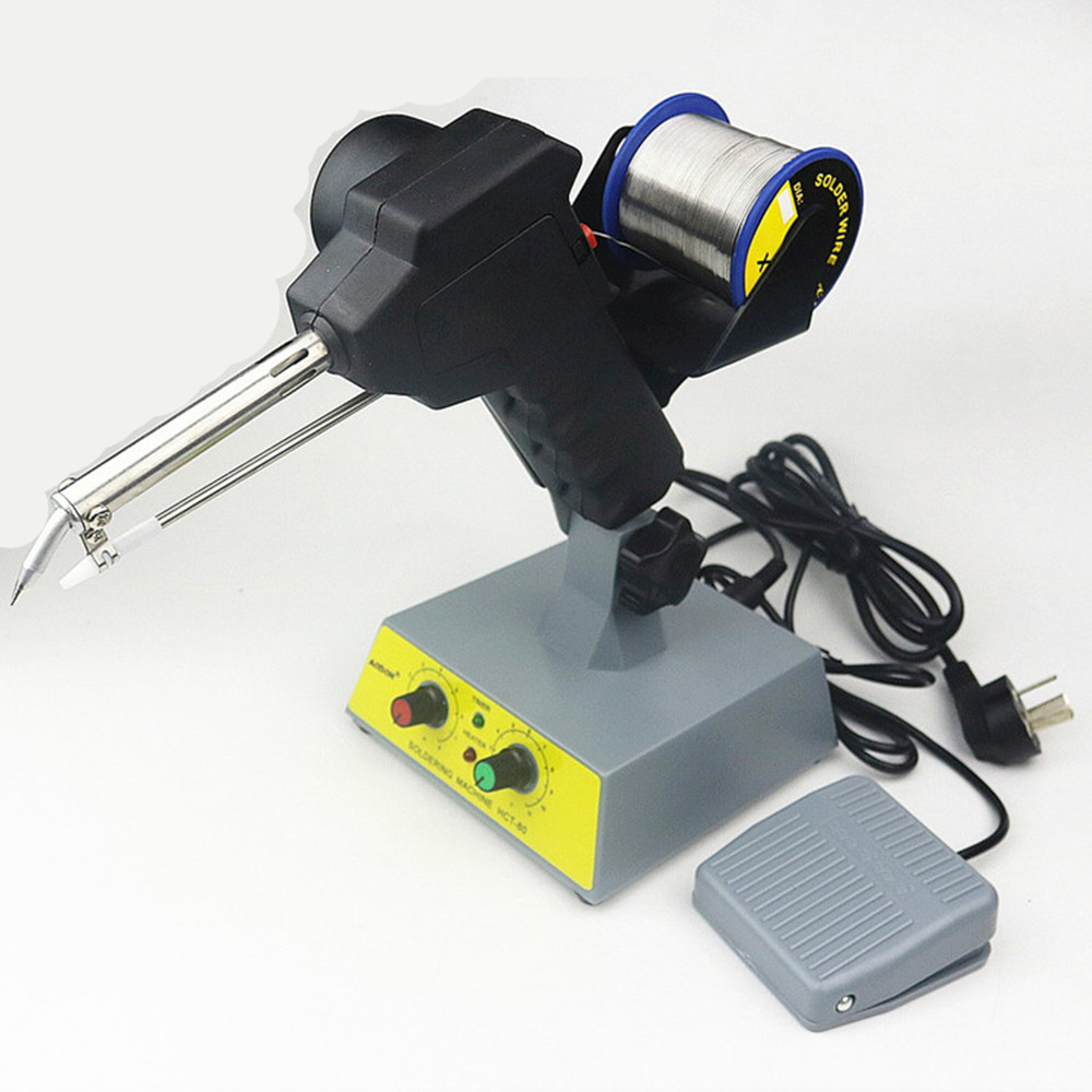 High quality Manual soldering gun Electric gun type iron Automatic soldering machine automatically send tin 80W 200-480C automatic boost tin soldering iron professional electric gun kit ac220v 60w