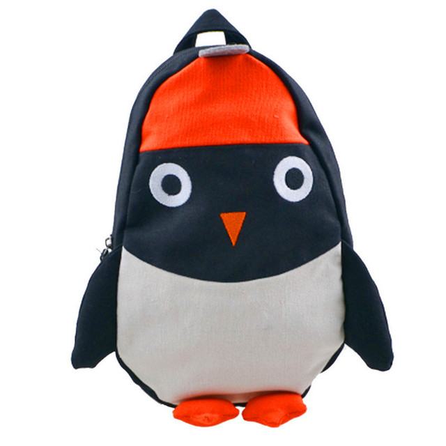 Girls Boys Cute Penguin Backpack Can Match Same Mini Penguin Crossbody Bag  KIDS Canvas Animal Backpack For Kids Girl 95aee1e597403