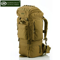 Seibertron Army 65L Mountaineering Bag Camping Travel Backpack Waterproof Large Capacity Men Military Tactical Backpack