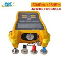 JW3208 wavelength 800 1700nm handheld fiber optic power meter yellow SC/ST/FC/LC connector fiber optical laser light source powe