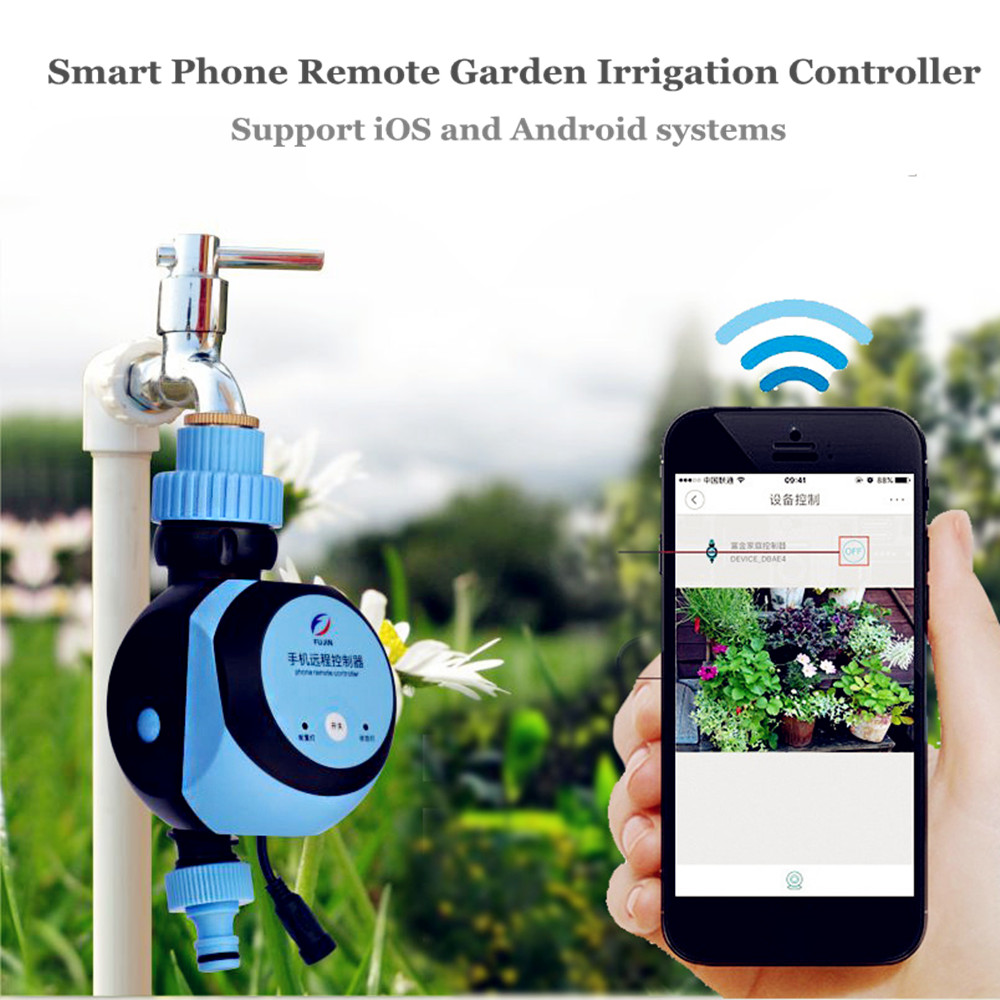 Phone Remote Water Timer Smart Electronic Garden Irrigation Controller Watering System Solenoid Suitable for IOS/Android ON SALE