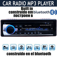 12V Car Stereo FM Radio MP3 Audio Player Built In Bluetooth Phone With USB SD MMC