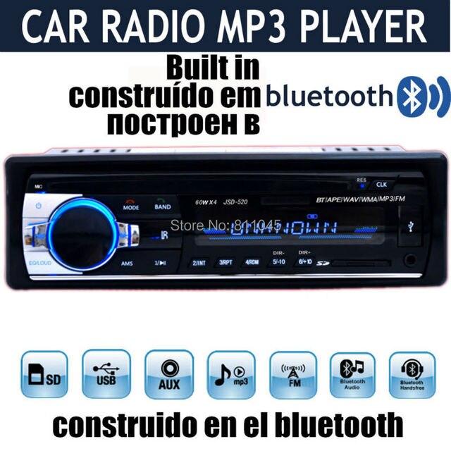 new 12v car stereo fm car radio bluetooth mp3 audio player. Black Bedroom Furniture Sets. Home Design Ideas