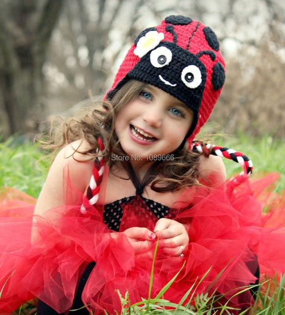 Einzelhandel häkeln baby mütze marienkäfer hut in rot, schwarz ...