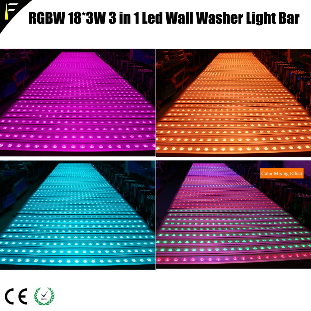 Ocean Park Lights Uplighting Venue Wall Wash Light Washer Bar RGBW 18*4w For Stage/Entertainment halls/Dico Night Club