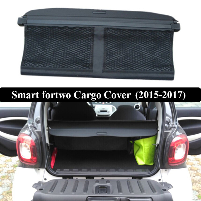 For Smart Fortwo 2017 Rear Cargo Cover Privacy Trunk Screen Security Shield Shade Auto Accessories