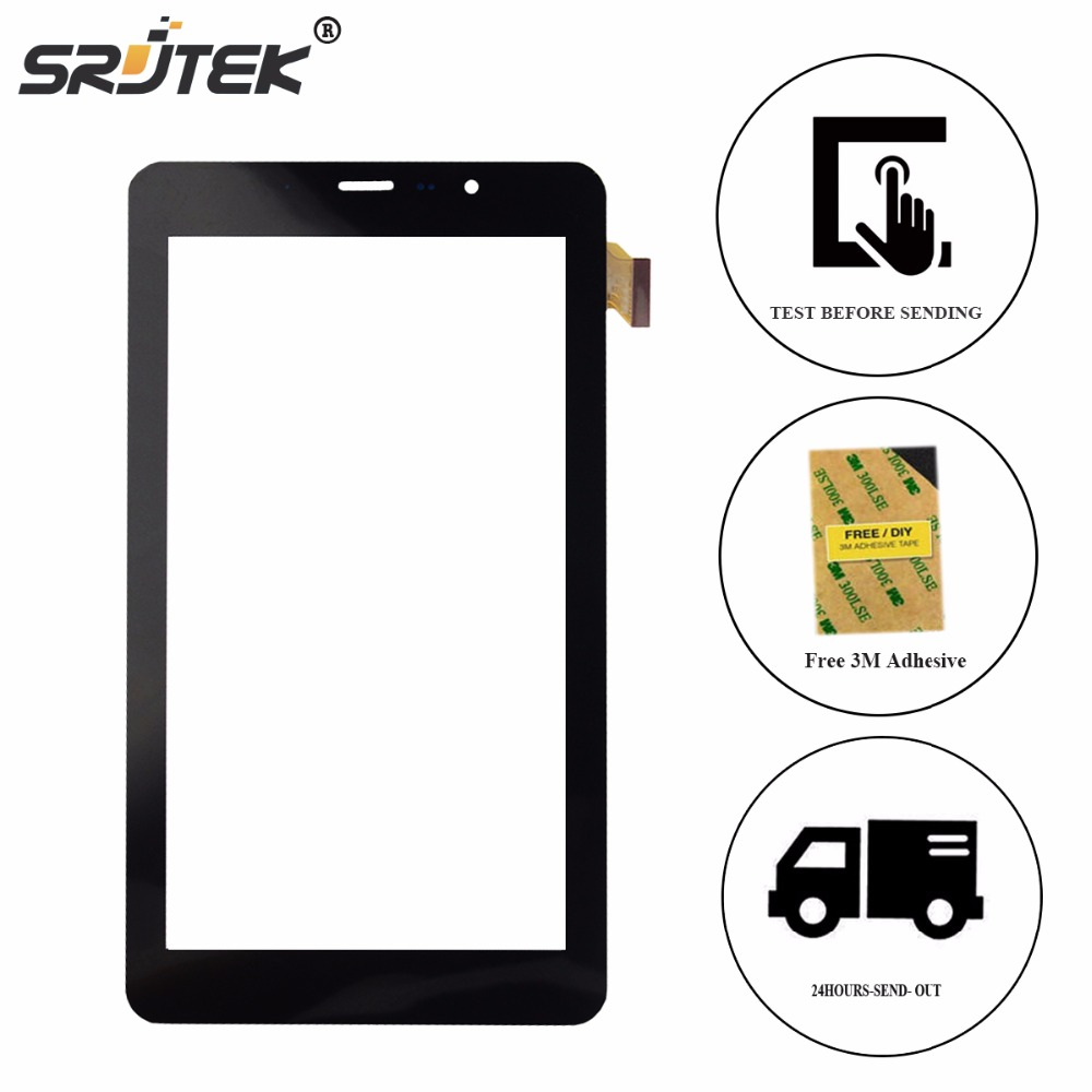 Srjtek New Tested 7 For TeXet TM-7058 X-pad STYLE 7.1 3G Touch Screen Digitizer Glass Panel Sensor  Replacement Parts new 7 inch for texet tm 7058 x pad style 7 1 3g touch screen touch panel digitizer glass sensor replacement