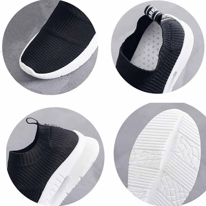 Frauen laufschuhe 2019 neue ankunft slip auf atmungsaktive mesh sport schuhe frauen turnschuhe Weiche und komfortable frauen schuhe