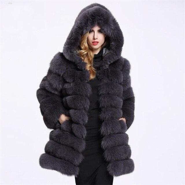 a26f662986680 ZADORIN 2019 Winter Luxury Faux Mink Fur Coat Hooded Women Thick Warm  Fluffy Faux Fur Jacket Ladies Coats Black Pink Fur Pele