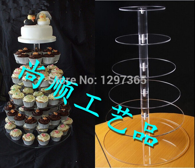 Free shipping New arrival 1 piece acrylic 6 tier cake stand fruit stand Xmas gift & Free shipping New arrival 1 piece acrylic 6 tier cake stand fruit ...
