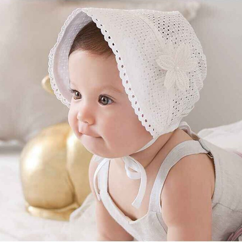 Hot 1Pcs Lovely 2Colors Soft Princess Hat Baby Girl Beanies Cap Sun Hats Newborn