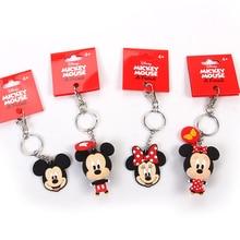 New pop Cartoon PVC Keychain Mickey Minnie Kids Keychain Key Holder Bag Pendant Charms Fans Gift Key wallet accessories ключница new brand key ts48a cartoon key wallet