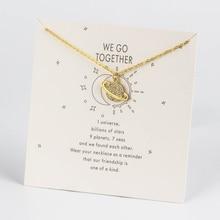 Микро подвеска Pave, металлическая винтажная Ювелирная подвеска в форме планеты, Серебряное золото для женщин, ювелирный подарок CN232