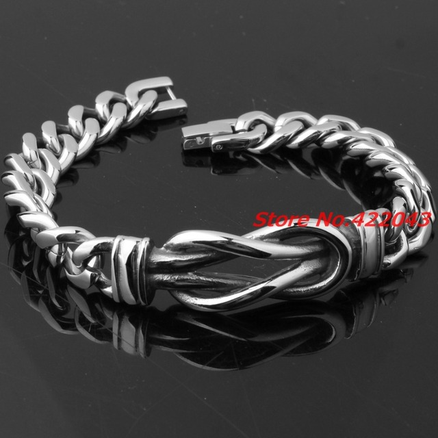 "8.89""*11.6mm Cut Curb Cuban Link 316L Stainless Steel Silver Polished Bracelet Mens Womens Cuff Chain Wholesale Jewelry Pulseras"