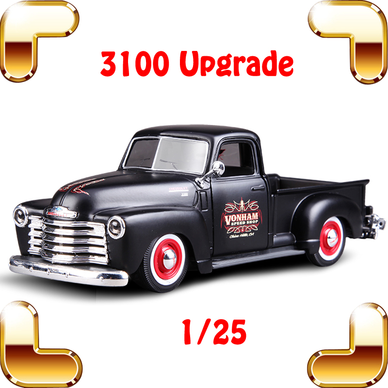 New Coming Gift 1950 Upgraded PICKUP 1/25 Metal Model Vehicle Truck Alloy Diecast  Toys Simulation Scale Present Collected Car maisto jeep wrangler rubicon fire engine 1 18 scale alloy model metal diecast car toys high quality collection kids toys gift
