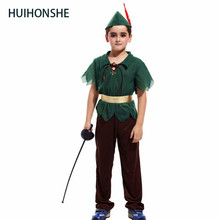 Free ship Young Indian whitton Children's photography collection cos jungle forest hunter suits Halloween green forest costume