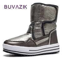 2017 New Lightweight Waterproof Snow Boots Women Fur Non Slip Warm Thickening Winter Shoes Woman Wool