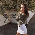 Kendall Jenner Sudaderas Crop Tops Con Capucha de Las Nuevas Mujeres Short Tops Manga Larga Pullover Jumper Envío Gratis