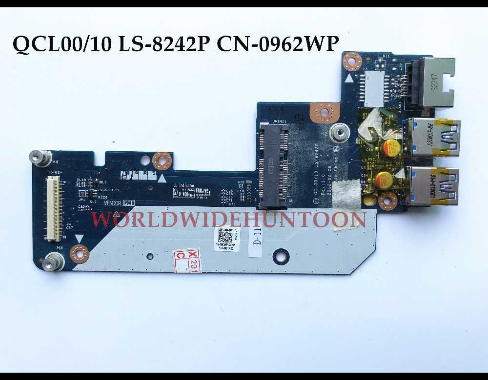 Wholesale QCL00/10 LS-8242P CN-0962WP FOR Dell Inspironc Vostro 3560 USB Ethernet LAN PCB Connector Board Fully tested адаптер dell intel ethernet i350 1gb 4p 540 bbhf