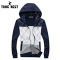 TANGNEST Men Fashion Plaid Hoodies 2017 Man's Slim Thin Sweatshirt Casual Popular Tracksuit Classic Plus Size M-5XL MWW600