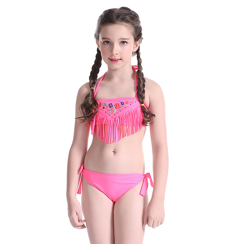 Aliexpress.com : Buy 2017 Children Bikini Summer Tassel ...