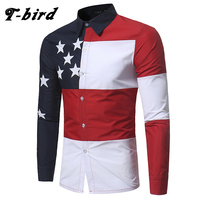 T Bird Shirt Men 2017 Brand Casual Printing Long Sleeves Slim Fit Men S Shirt Camisa