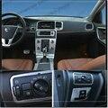 ¡ Venta caliente! Car styling faros interruptor de ajuste de la cubierta decorativa del coche panel de la lámpara de acero inoxidable tira 3D pegatina para Volvo V60 S60