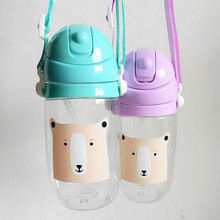 Portable Baby Cup Straw Bottles For Water 300ml Eco-friendly PC Space Bottle Children Drinking Kids biberon