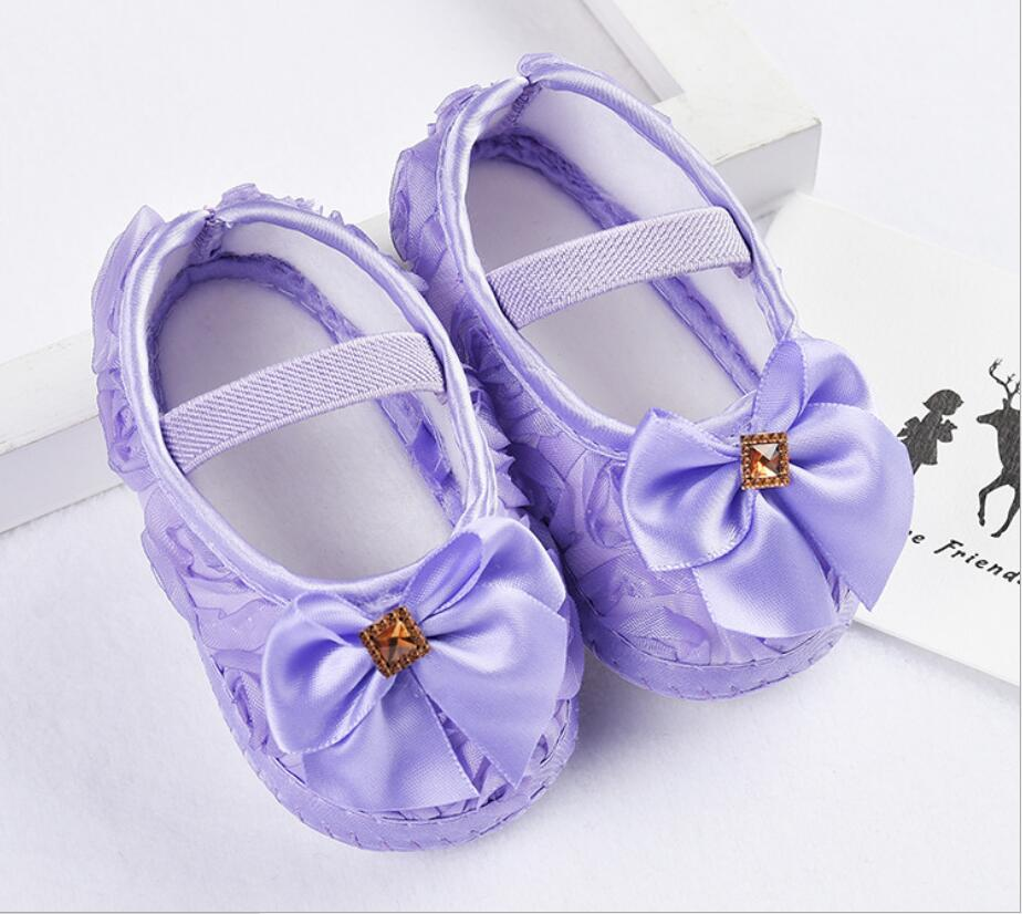 Lytwtw's Baby Children Shoes Prewalker Girls Lace Flower Toddlers First Walkers Newborn | Happy Baby Mama