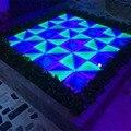 16 квадратных метров RGB красочные светодиодные свадебный танцпол панелей с луч эффект яркий светодиодный танцпол свет для диско ночной клуб
