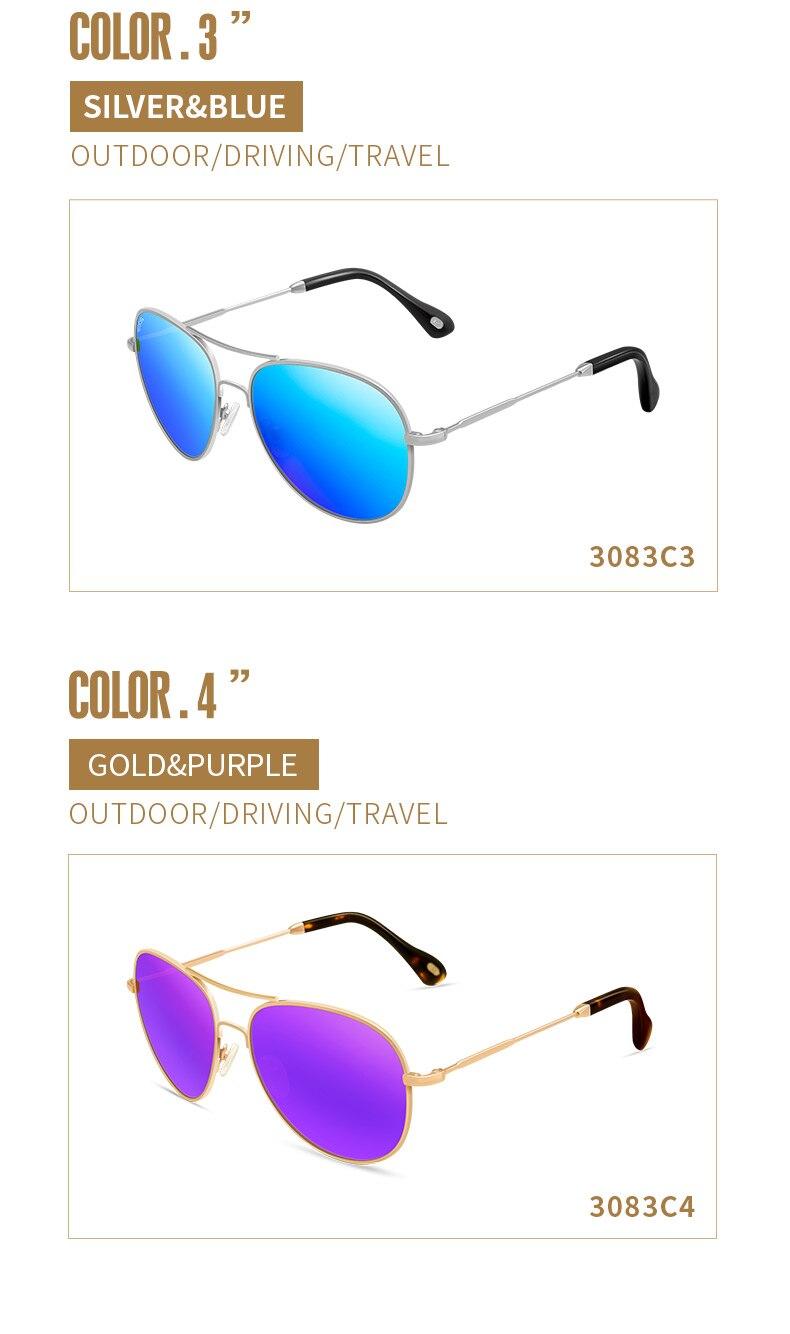 VEGOOS Polarizada Óculos De Sol Mulheres Grife de Luxo Real Homens Piloto Óculos  Óculos de Sol Das Mulheres Da Forma do Aço Inoxidável 2b50433c1c