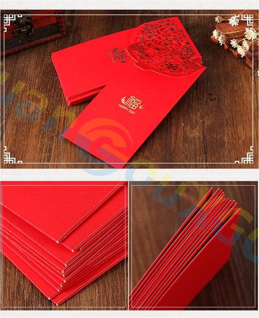 aliexpress com buy 160set hollow fu red envelope big size lucky