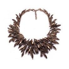 Винтажное золотистые этнические Макси-ожерелье, Женские Ювелирные изделия, индивидуальное шоу, ожерелье с подвесками, Заводская, ожерелье